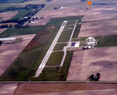 Aerial photo of KGGP (Logansport/Cass County Airport)