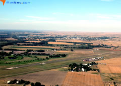 Aerial photo of KOLF (L M Clayton Airport)