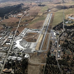 Aerial photo of KMYL (Mc Call Municipal Airport)