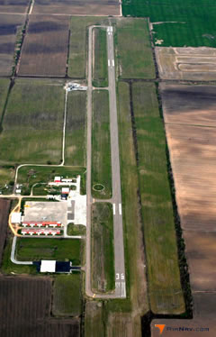 Aerial photo of KHKA (Blytheville Municipal Airport)
