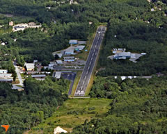 Aerial photo of 1B6 (Hopedale Industrial Park Airport)