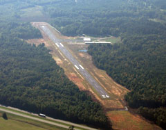 Aerial photo of 7A3 (Lanett Municipal Airport)
