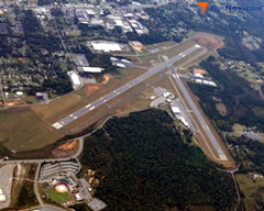 Aerial photo of KHKY (Hickory Regional Airport)