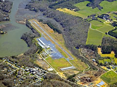 Aerial photo of KJGG (Williamsburg-Jamestown Airport)