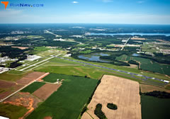 Aerial photo of KMSL (Northwest Alabama Regional Airport)