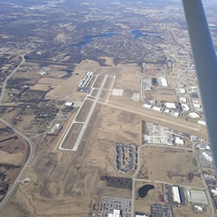 Aerial photo of KLXT (Lee's Summit Municipal Airport)