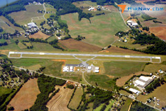 Aerial photo of KEHO (Shelby-Cleveland County Regional Airport)