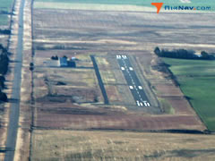 Aerial photo of KMDF (Mooreland Municipal Airport)