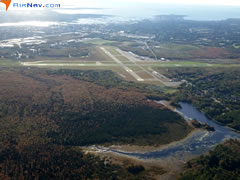Aerial photo of KEWB (New Bedford Regional Airport)
