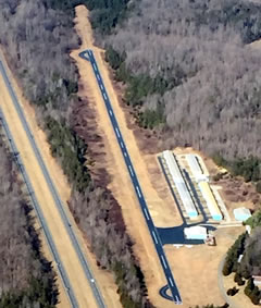 Aerial photo of 3A4 (Southeast Greensboro Airport)