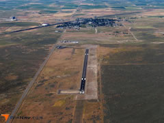 Aerial photo of KMLF (Milford Municipal Airport/Ben and Judy Briscoe Field)