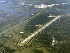 Aerial photo of KTTS (NASA Shuttle Landing Facility)