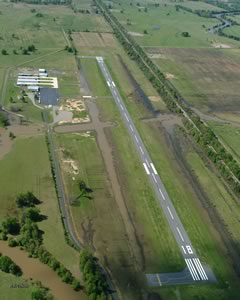 Aerial photo of KRKR (Robert S Kerr Airport)