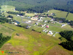 Aerial photo of NC25 (Gold Hill Airport)