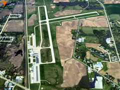 Aerial photo of KMTW (Manitowoc County Airport)