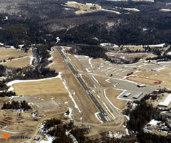 Aerial photo of KLKP (Lake Placid Airport)