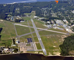 Aerial photo of KMQI (Dare County Regional Airport)