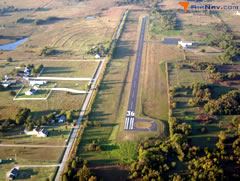 Aerial photo of F10 (Henryetta Municipal Airport)