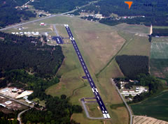 Aerial photo of KCQW (Cheraw Municipal Airport/Lynch Bellinger Field)