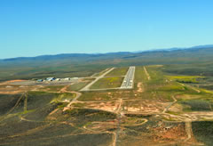 Aerial photo of KEVW (Evanston-Uinta County Airport - Burns Field)