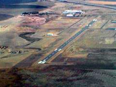 Aerial photo of 82V (Pine Bluffs Municipal Airport)