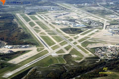 Aerial photo of KPIT (Pittsburgh International Airport)