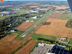 Aerial photo of KVTA (Newark-Heath Airport)