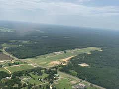 Aerial photo of 09R (Tyler County Airport)