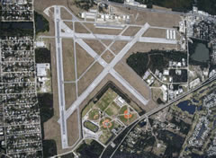 Aerial photo of KEVB (New Smyrna Beach Municipal Airport)