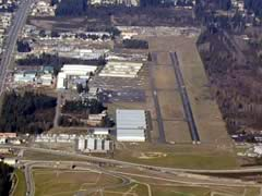 Aerial photo of KPLU (Pierce County Airport - Thun Field)