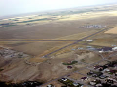 Aerial photo of KCII (Choteau Airport)