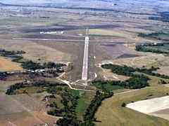 Aerial photo of KCDR (Chadron Municipal Airport)