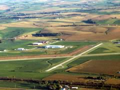 Aerial photo of KRDK (Red Oak Municipal Airport)