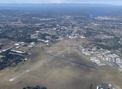 Aerial photo of KOLM (Olympia Regional Airport)