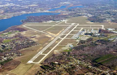 Aerial photo of KMKG (Muskegon County Airport)
