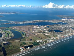 Aerial photo of KGLS (Scholes International Airport at Galveston)