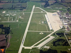 Aerial photo of KSZL (Whiteman Air Force Base)