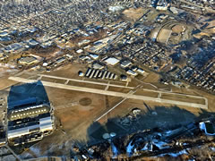 Aerial photo of KAKR (Akron Fulton International Airport)
