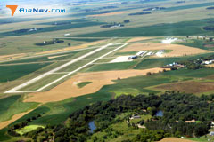 Aerial photo of KFFM (Fergus Falls Municipal Airport-Einar Mickelson Field)