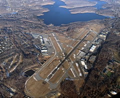 Aerial photo of KHPN (Westchester County Airport)