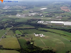 Aerial photo of KHMZ (Bedford County Airport)