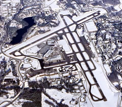 Aerial photo of KMHT (Manchester Airport)