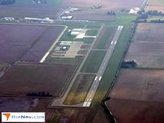 Aerial photo of KRNV (Cleveland Municipal Airport)