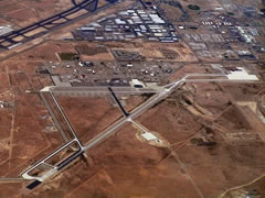 Aerial photo of KBIF (Biggs Army Airfield (Fort Bliss))