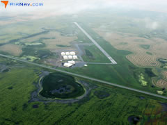 Aerial photo of KHBC (Mohall Municipal Airport)