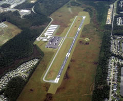 Aerial photo of KLRO (Mt Pleasant Regional Airport-Faison Field)