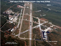 Aerial photo of KFHU (Sierra Vista Municipal Airport-Libby Army Airfield)