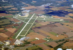 Aerial photo of KHUF (Terre Haute Regional Airport)