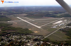 Aerial photo of KPLN (Pellston Regional Airport of Emmet County)