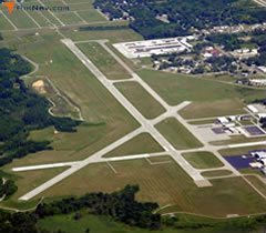 Aerial photo of KBEH (Southwest Michigan Regional Airport)